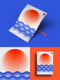Super Gradient / One Day One Poster on Behance Web Design, Graphic Design Layouts, Graphic Design Print, Graphic Design Illustration, Graphic Design Inspiration, Book Design, Design Art, Brochure Design, Dm Poster