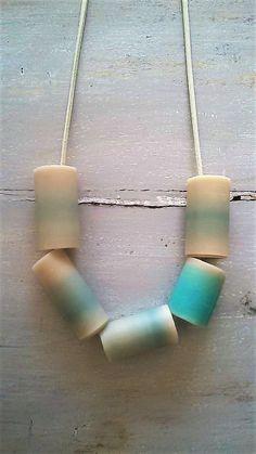 RIGA II / clay necklace / clay beads necklace / clay tubes necklace / polymer clay necklace 0