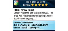 Speedy response and excellent service. The price was reasonable for unlocking a house door...