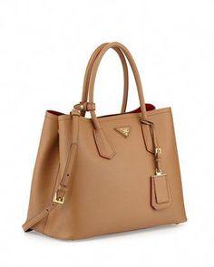 d82c882e6 designer dupes handbags amazon #Designerhandbags Prada Double Bag, Prada  Tote, Prada Saffiano Bag