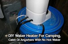DIY Water Heater For Camping, Cabin Or Anywhere With No Hot Water. It's efficient and makes hot water very quickly. This design uses less than 1200 watts