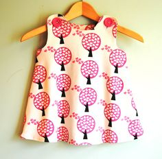 Organic Cotton Knit - Love Tree Baby Toddler Girl Dress by KKchildrendesigns $58.00 USD