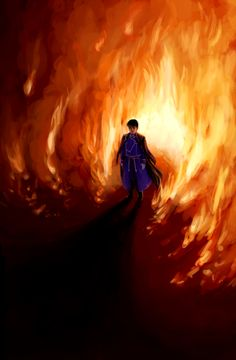 The Flame Alchemist   By qwertyprophecy   Fullmetal Alchemist Brotherhood   This artwork is incredible.
