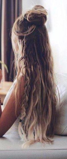 boho-braid-top-knot-bun-half-up-half-down-braidedhairstyles-boho-braid-braidedhairstyles-bun-knot-top-braidedtopknots-boho-braid-top-kn/ SULTANGAZI SEARCH Box Braids Hairstyles, Short Shag Hairstyles, Trending Hairstyles, Boho Hairstyles, Short Wavy Hair, Braids For Long Hair, Long Hair Cuts, Medium Hair Styles, Curly Hair Styles
