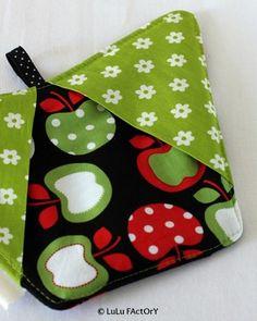 Manique gant de cuisine, motifs pommes - For the kitchen