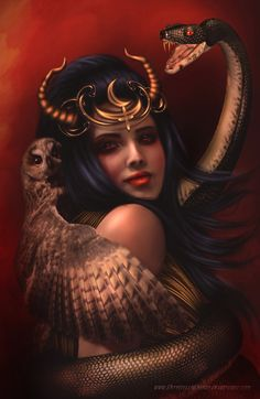 One story is that God created Adam and Lilith as twins joined together at the back. She demanded equality with Adam, failing to achieve it, she left him in anger. This is sometimes accompanied by a Muslim legend that after leaving Adam Lilith slept with Satan, thus creating the demonic Djinn.