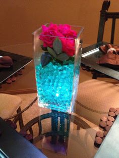 Glowing Vase with Water Beads