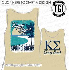 TGI Greek - Kappa Sigma - Spring Break - Greek Apparel #tgigreek #kappasigma Sorority Shirt Designs, Sorority Shirts, Tee Shirts, Tees, Greek Apparel, Sigma Kappa, Greek Life, Custom Hats, Fraternity