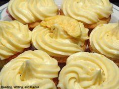Fresh Peach Cupcakes with Peach Cream Cheese Frosting.