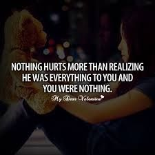 Worse feeling ever!!! I've been in that place before. Which made me feel worthless. I became depressed and suicidal. Because of that I was heartless for years... Until a special someone changed everything. The walls I built he destroyed. It was too late when I had realized that I had fallen for him.