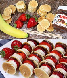 Nutella Pancake Kabobs