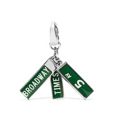 Fossil Nyc Street Signs Charm ($13) ❤ liked on Polyvore featuring jewelry, pendants, fossil charms, charm jewelry, charm pendant and fossil jewelry