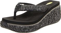 Volatile Womens Tanorama Wedge Sandal Black 9 B US ** Special  product just for you. See it now!