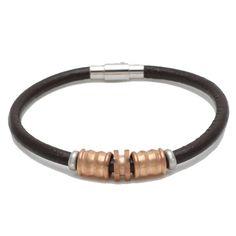 Buy 2013 Fashion Handmade Stainless Steel Genuine Leather Bracelet