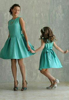 Mother daughter matching dresses Different colors Mommy and