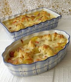 Czech Recipes, Ethnic Recipes, Cooking Recipes, Healthy Recipes, Quiche, Macaroni And Cheese, Cauliflower, Food And Drink, Low Carb