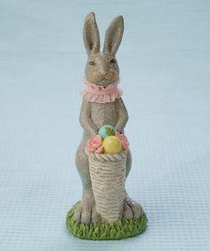 Resin Cone Basket Bunny Figurine #zulily #zulilyfinds