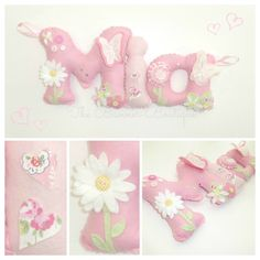 Personalised felt name banner with butterflies and CK fabric. www.facebook.com/thebannerboutique