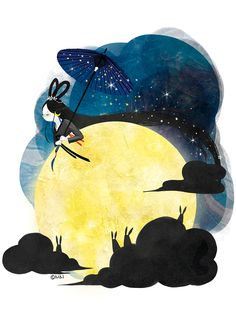 달 치마가 차오르는 보름날. 선녀님은 둥글게 부푼 달치마를 입고 밤 나들이를 나갑니다. 밤 토끼들은 선녀님의 고운 모습을보고 누가 반할까 뭉게뭉게 구름으로 선녀님 주변을 호위하지요.