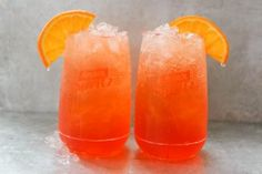Aperol Spritz Snow Cone: The secret to surviving summer? Turning your favorite cocktails into adult snow cones. The perfect start: Aperol, Prosecco and soda water poured over plenty of crushed ice.