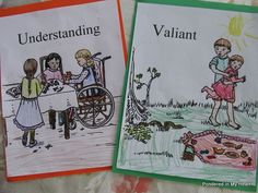 Character Trait Coloring pages - Recommended to go with Hero Tales in ECC