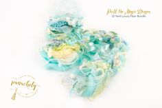 Puff the Magic Dragon Fiber Art Yarn. 32 Yard Novelty Yarn, Ribbon and Art Fiber Bundle. by Panachely on Etsy