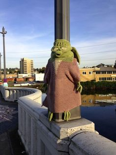 Yarn bombing - def double take! ArtsWalk. Thankful to be part of such an amazing group!