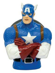 Marvel Comics Spardose Captain America 20 cm   Marvel Comics Spardosen - Hadesflamme - Merchandise - Onlineshop für alles was das (Fan) Herz begehrt!