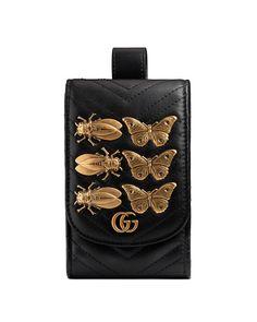 e6230759466d GUCCI GG MARMONT 2.0 INSECT CARD CASE, BLACK. #gucci #