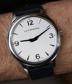 Ariel Adams goes Hands-On with the Chopard L.U.C XP Ref. 168592-3001. With aplied hour markers and blued steel hands and a micro rotor movement.