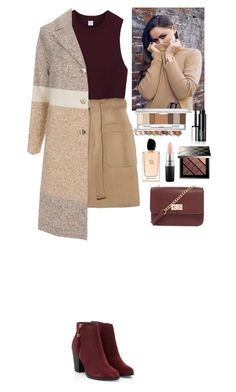 """""""Outfit Beautifulhalo"""" by eliza-redkina ❤ liked on Polyvore featuring Paul Smith, Forever 21, Burberry, Giorgio Armani and MAC Cosmetics"""