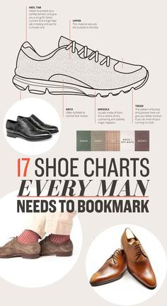 17 Shoe Charts Every Man Needs To Bookmark #infographic #mensfashion