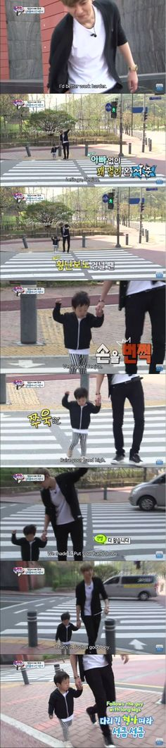 The Return of Superman - Exo Chanyeol and Seojun Crossing the street