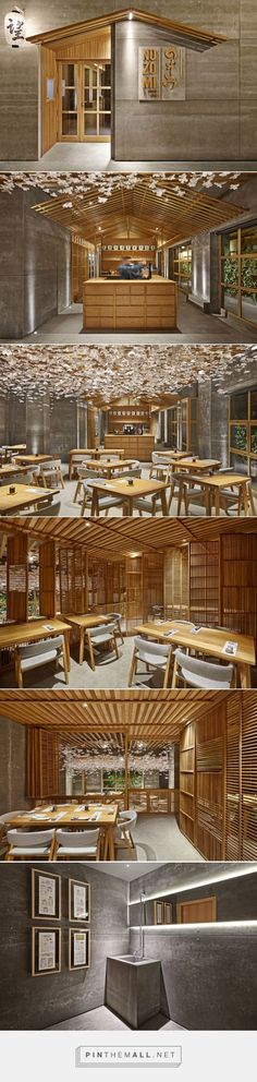 Nozomi Bar Sushi Restaurant in Valencia 2015 Selectism created via pinthem Retail Interior, Cafe Interior, Interior And Exterior, Japanese Restaurant Design, Restaurant Interior Design, Sushi Restaurants, Design Commercial, Commercial Interiors, Bar Deco