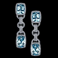 Blue aquamarine diamonds  Robert Procop Exceptional Jewels