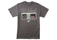 Show off your gamer style in this Nintendo tee that features a vintage design of a NES game system controller  that reads Old School.