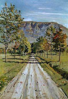 Ferdinand Hodler - Die Straße nach Evordes