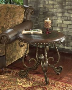 stained glassmosaic round table top designs   Signature Design by Ashley Rafferty Round End Table « new best seller ...