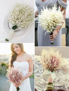 Astilbe is the hottest wedding flower of 2012, so we went in search of the most beautiful inspiration for astilbe bouquets, wedding decor and pretty little astilbe posies