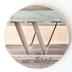Custom reclaimed wood monogram by avaberrylane.com
