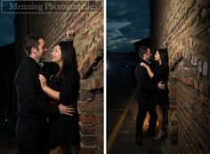 edgy downtown engagement photos. What to wear for engagement pictures