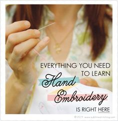 Sublime Stitching - Sublime Stitching • Hand Embroidery Tutorials