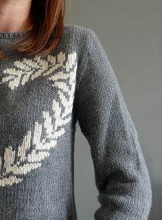 "Ravelry: KnittedWonderland's ""Peace and Love Sweater,"" by Anna Ravenscroft, knit in Sublime Organic Merino DK."