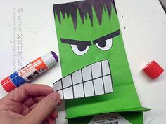 The Avengers: Hulk Party Bag - Avenger Craft: The Hulk Party Bag, Amanda Formaro - Crafts by Amanda Source by pinkieforpink Hulk Party, Superhero Theme Party, Hulk Birthday Parties, 4th Birthday, Birthday Ideas, Avengers Crafts, Avengers Birthday, Party Bags, Party Favors