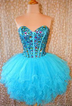 Custom Made Sweetheart Mini Blue Prom Dress,Short Homecoming Dress,Dress For Prom on Etsy, $154.99
