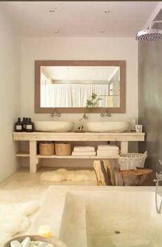 Light rustic. #bathroom #bathroomdesign #bathroomremodel