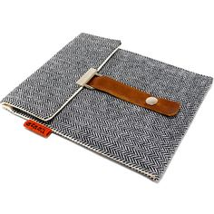 I love this for my boyfriends new Kindle.   Kindle Fire case  gray herringbone tweed by MariForssell on Etsy, $49.00