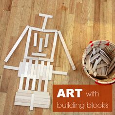 Art with Building Blocks -- Building towers and other structures aren't the only way for kids to use building blocks!
