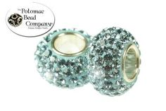 New pandora style crystal beads with sterling silver cores. Potomac Bead Company, Medina Ohio