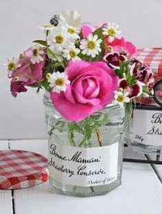 J'adore dans les pots de confitures... ...